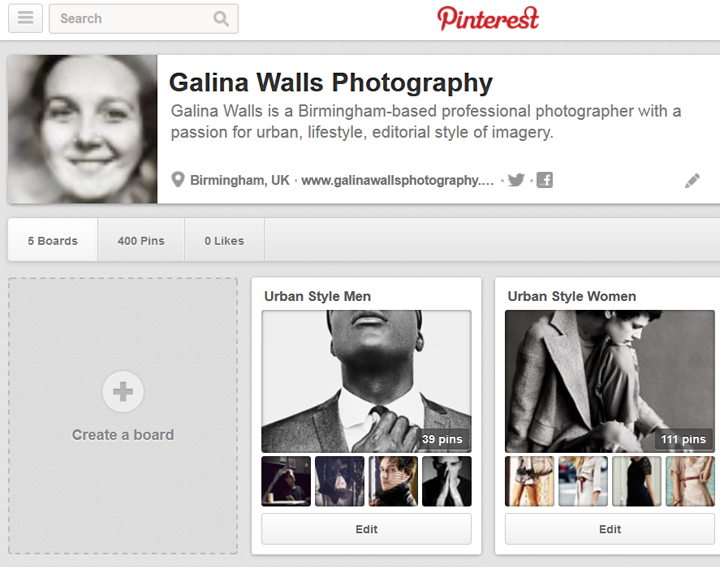 Pinterest boards for Birmingham Street Style project