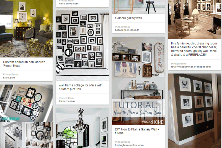 How to display photographs in your home Pinterest board