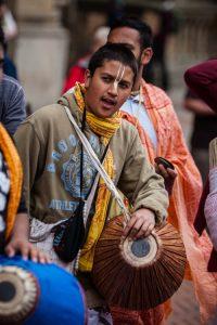 Teen Indian boy chanting
