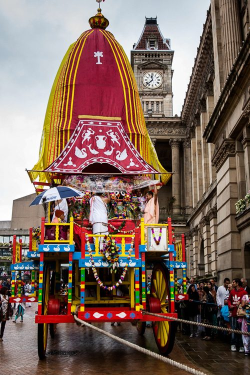 Giant chariot of Birmingham Ratha Yatra Festival 2013