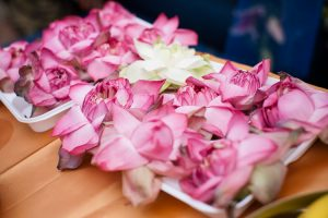 Flower petals as a puja offering