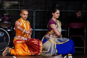 Traditional dance perfomance on stage to continue the Ratha Yatra celebrations