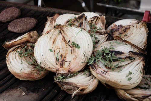Ostrich burgers and giant Jack Daniels onions
