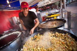 Making curry at Birmingham International Food Fair 2013