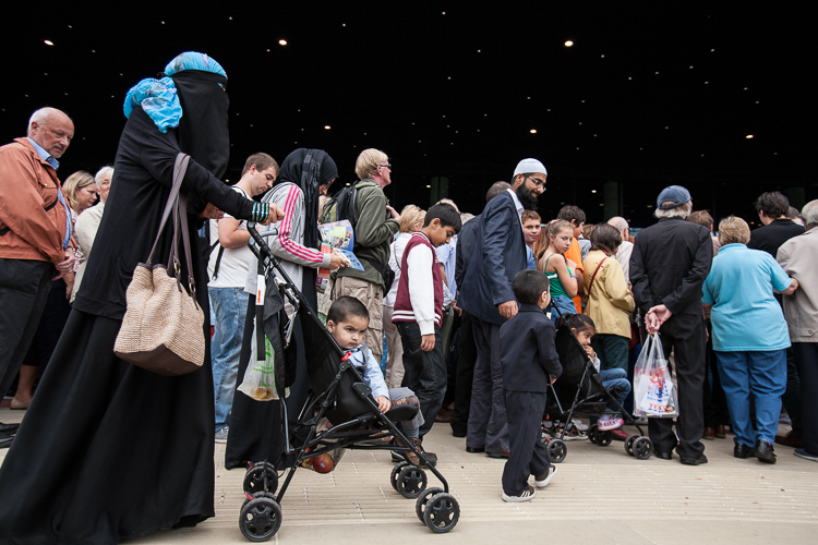 People of all ethnic backgrounds attend the opening of the LIbrary of Birmingham