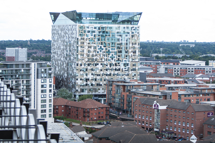 The Cube viewed from the Secret Garden terrace