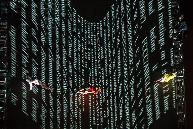 Birmingham events – As The World Tipped aerial theatre performance