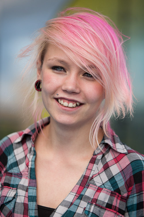 Brum Street Style photo - pink hair
