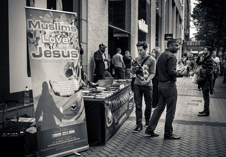 Birmingham street life - Muslims Love Jesus