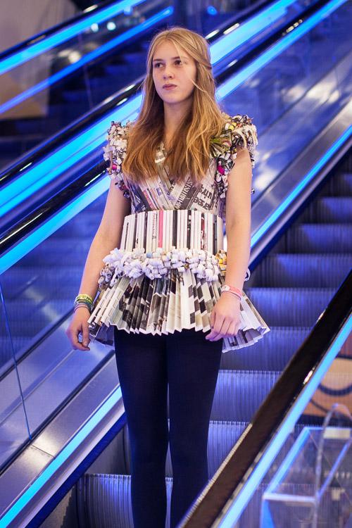Paper dress at Joseph Chamberlain Fashion Show