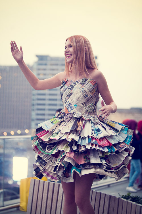 Paper garment from Joseph Chamberlain College Fashion Show at the Library of Birmingham