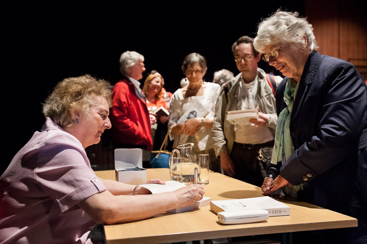 Lindsey Davis - book signing at the new Library of Birmingham