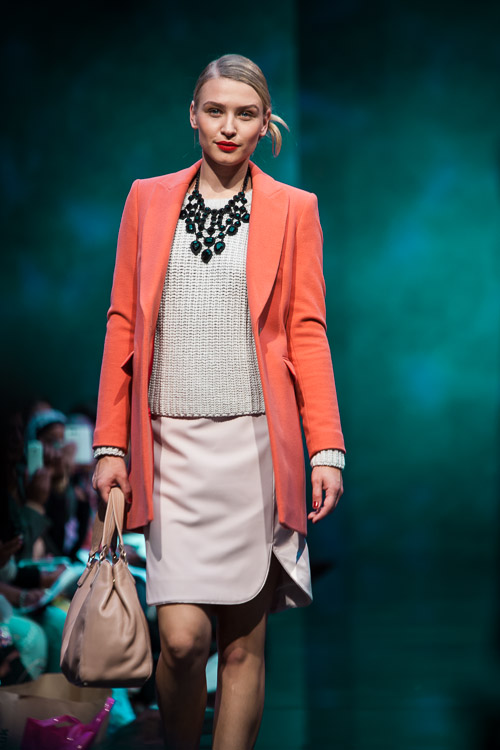 Model wearing pastel colours at the Show: Ten at Bullring Birmingham