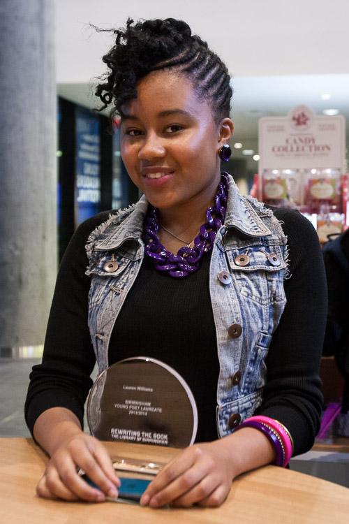 Lauren Williams 9th Young Birmingham Poet Laureate
