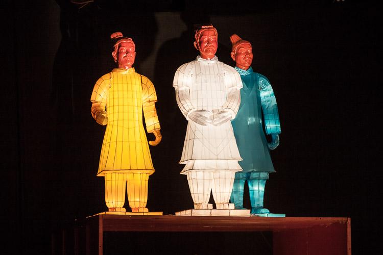 The Lanterns of Terracotta Warriors exhibition