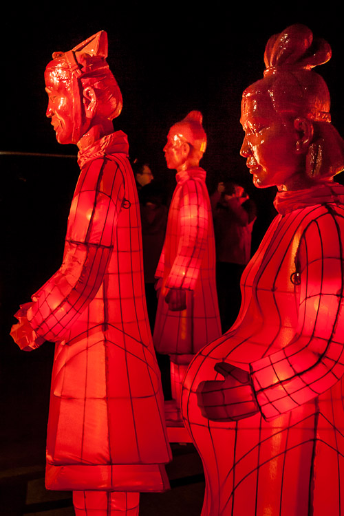 The Lanterns of Terracotta Warriors exhibition