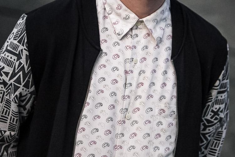 Birmingham Street Style Project printed paisley shirt