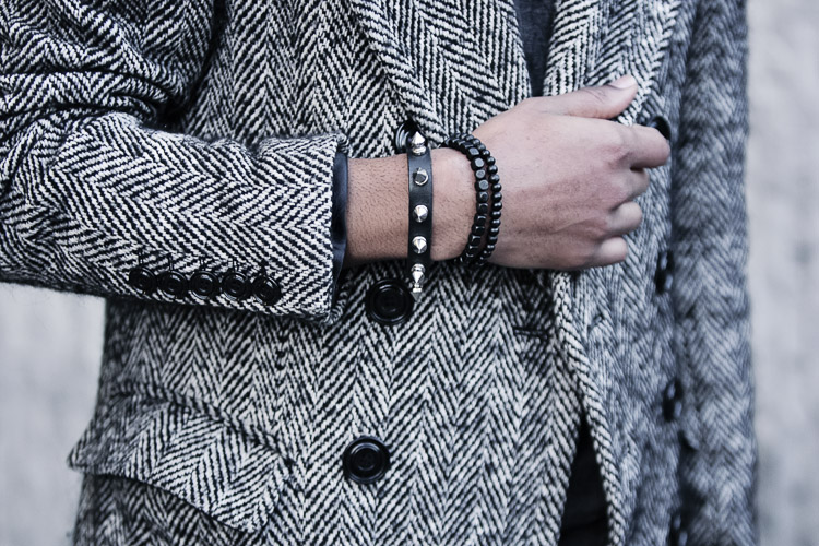 Birmingham Street Style Project studded wrist band and bracelets