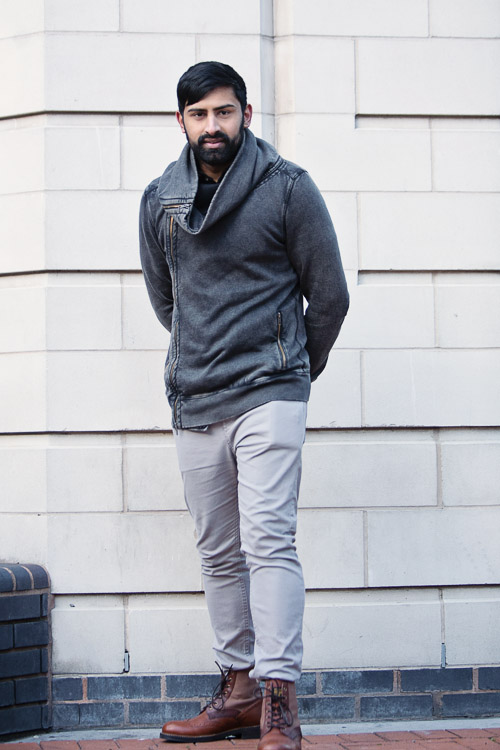 Birmingham Street Style Project All Saints jacket and Diesel boots