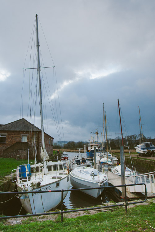 Sailing boats at Kingholm Quay Harbour