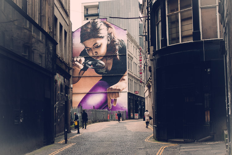 Glasgow street art Mitchell Street