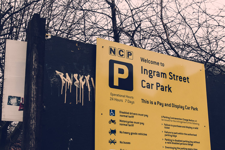 Ingram Street Car Park sign