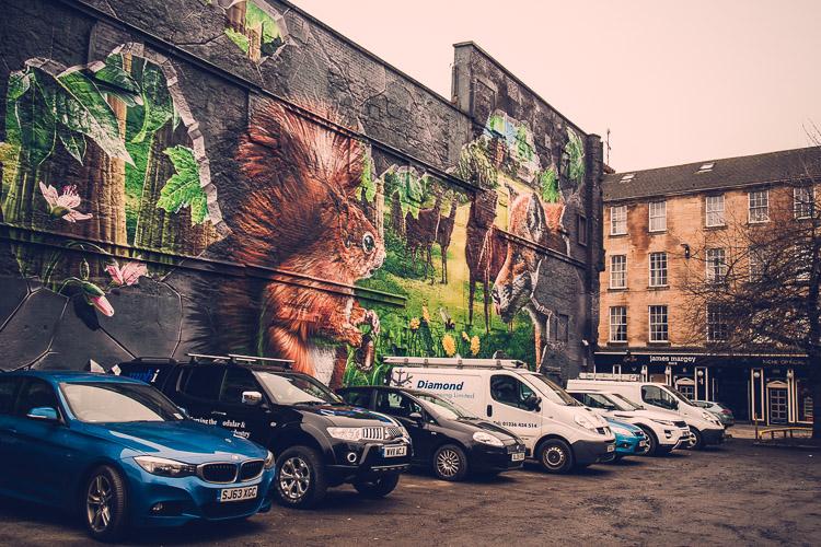 Glasgow street art galina walls photography for 4 seasons mural