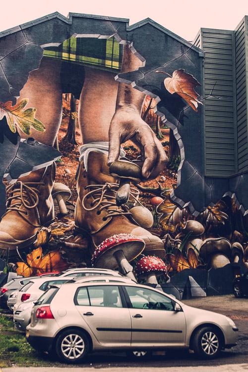Autumn fragment of Four Season's mural by Smug