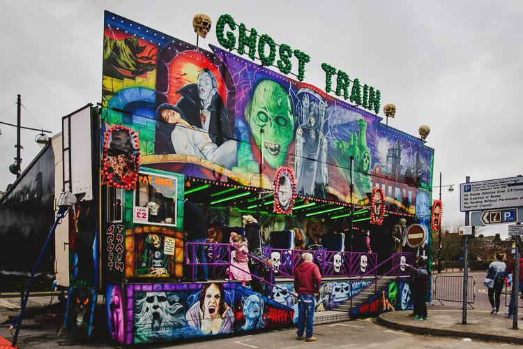 Ghost Train ride at Dumfries Whitesands Fair