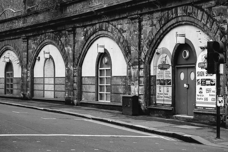 The curve of Osbourne Street Glasgow