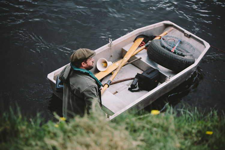 Boatman on the Nith Dumfries