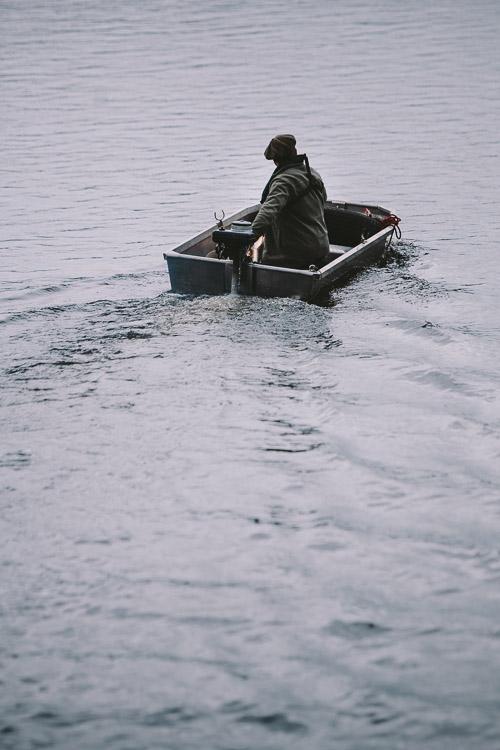 Boat sailing away