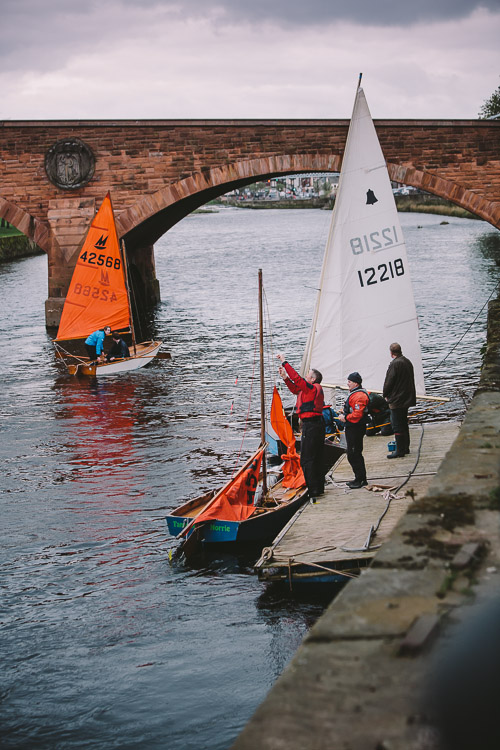 Sailboats on the Nith at Dock Park Dumfries
