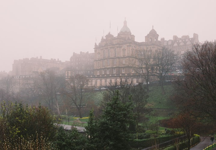Misty Edinburgh - Princes St Gardens and The Mound Precinct