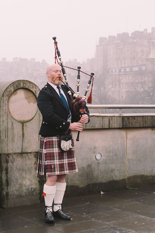 Scottish piper in Edinburgh