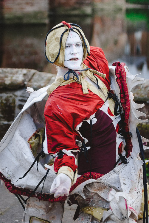 An inner layer of jester/trickster costumes enhanced the carnivalesque spirit