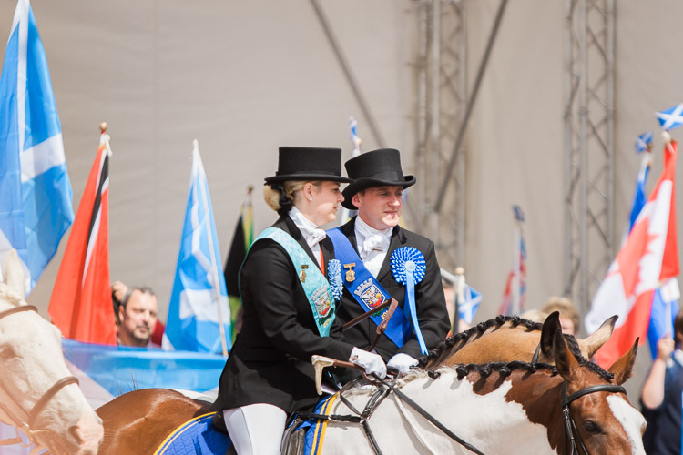 Guid Nychburris' 1014 Cornet Chris Beattie and his lass waiting for QBR