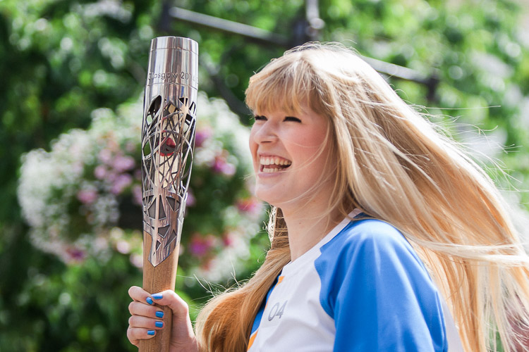 Queen's Baton Relay in Dumfries