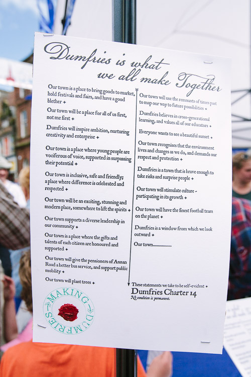 'Dumfries is what we all make together' Charter
