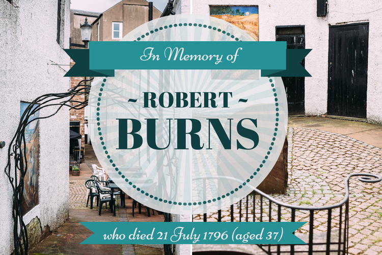 The Globe Inn collage - in memory of Robert Burns