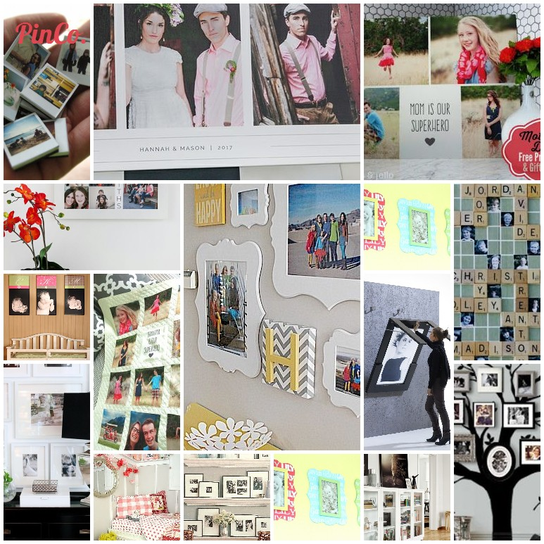 A collage of pins from Living with Your Photographs Pinterest board