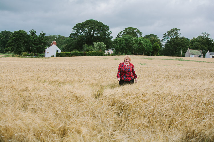 In the field of wheat at Kingholm Quay