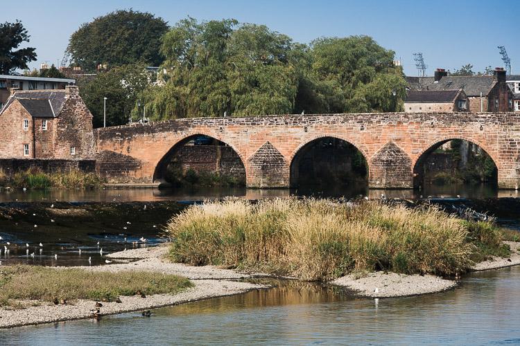 Devorgilla Bridge in Dumfries town centre