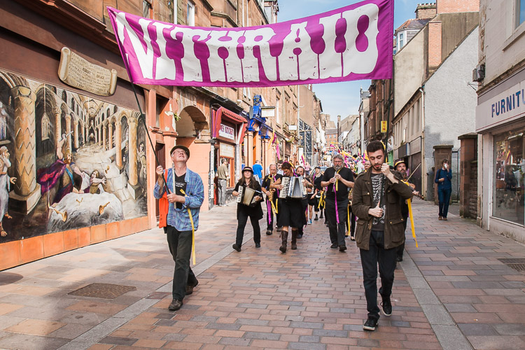 Nithraid parade on Friars Vennel