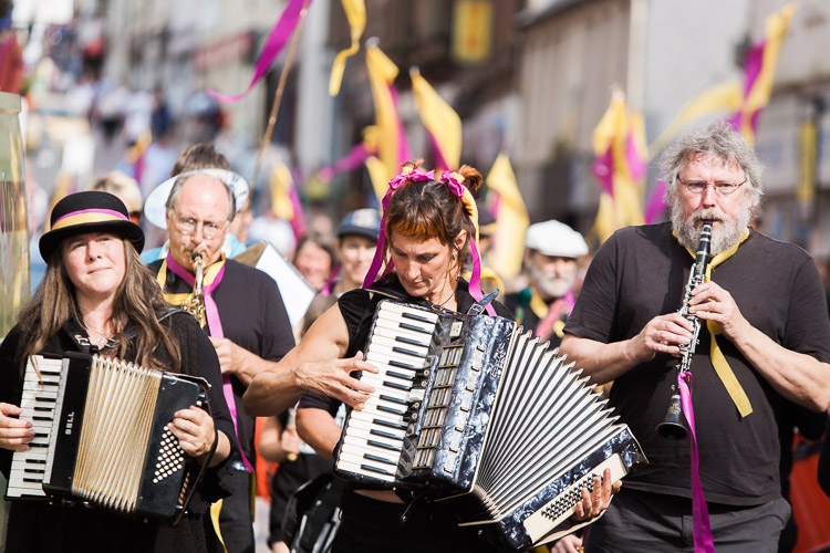 Trash street band performs a specially commissioned music piece at Nithraid