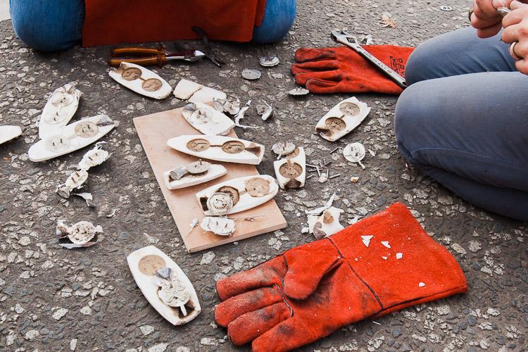 Ceramic casts open