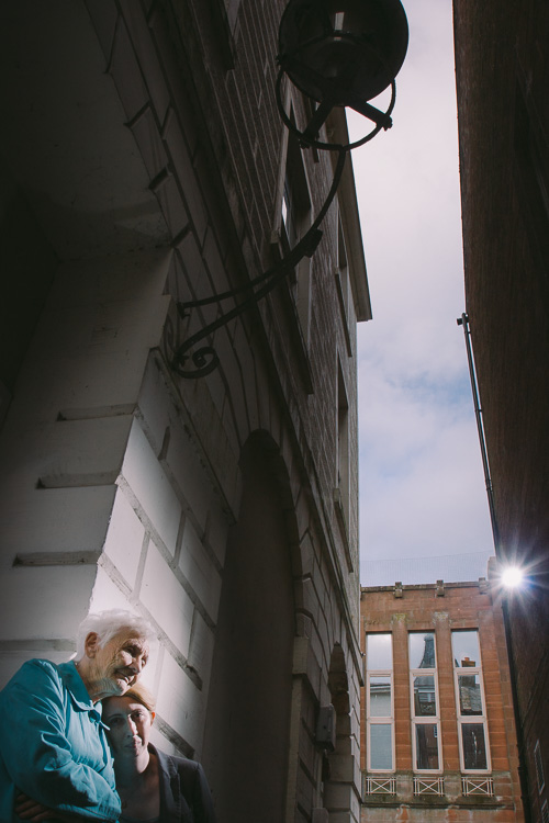 Location portrait in Dumfries narrow alley