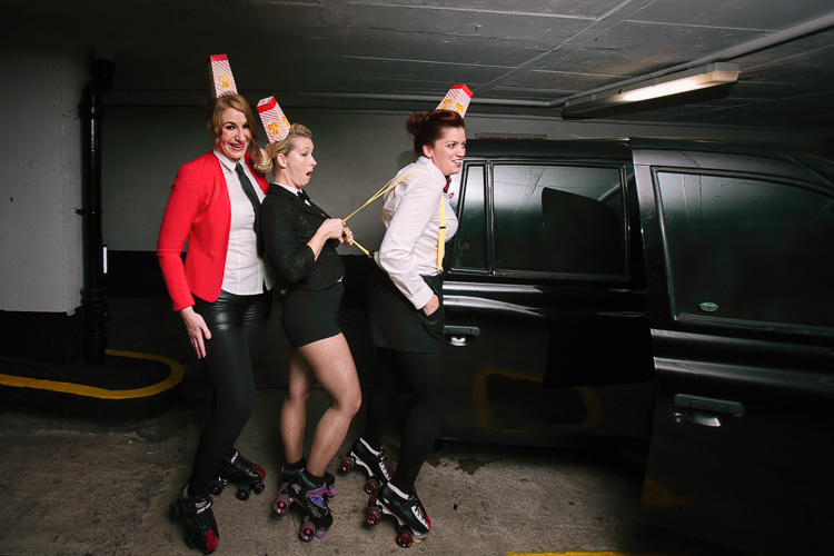 Donnhame Derby girls posing with GabCab