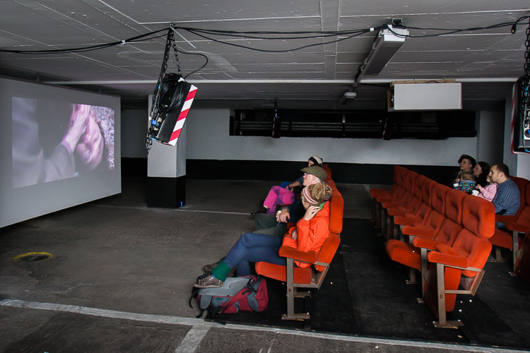 The film screening at the NCP car park organised by the Stove Network