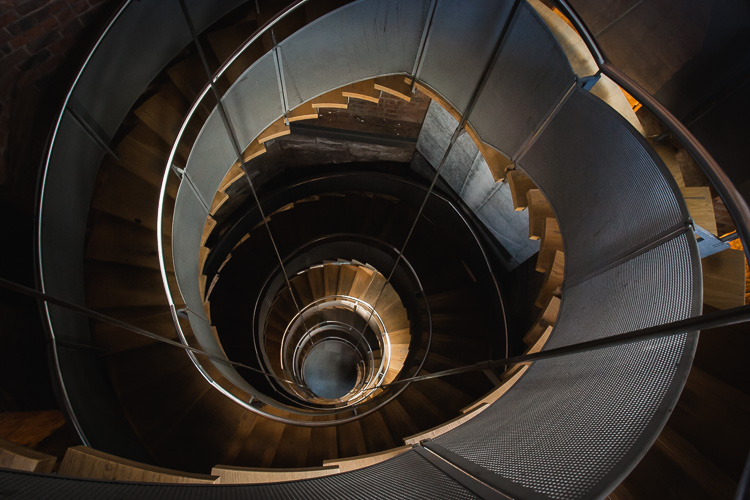 Spiral staircase at the Lighthouse in Glasgow